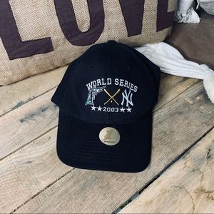 Vintage Florida Marlins black World Series 2003hat